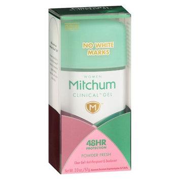 Mitchum Women's Clinical Antiperspirant Gel Powder Fresh 2.0 oz.(pack of 3)