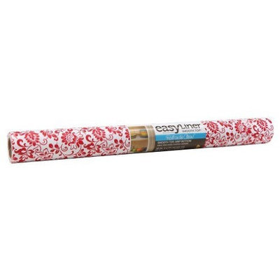 Duck Brand 281053 Smooth Top Easy Liner Non-Adhesive Shelf Liner, 20-Inch x 6-Feet, Red Floral []