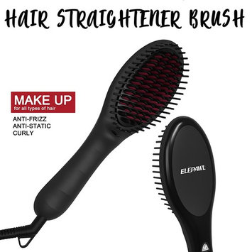 Hair Straightening Brush,ELEPAWL 3 in 1 MCH Heating Floating Ionic Straightener Brush with Anti-Scald, Portable Frizz-Free Hair Care for Silky Straight Comb,Auto Temperature Lock& Auto-off Function