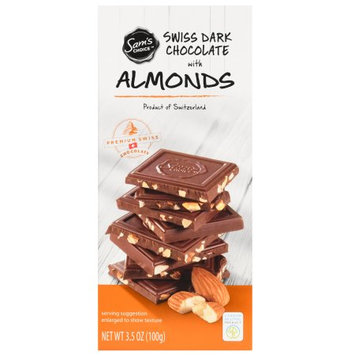 Sam's Choice Swiss Dark Chocolate With Almonds, 60% Cocoa, 3.5 oz