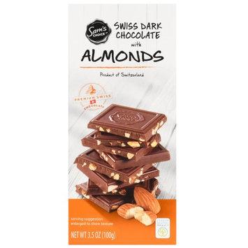 Sam's Choice Swiss Dark Chocolate With Almonds, 60% Cocoa, 3.5 oz