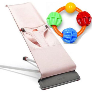 Babybja Rn Baby Bjorn 001035USKT Bouncer Mini With Click Clack Balls Teether - Light Pink