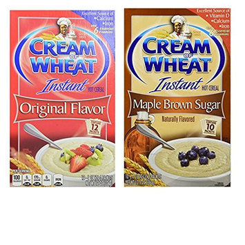 Cream of Wheat Instant Oatmeal Large Box Variety Pack. Original Flavor and Maple Brown Sugar Instant Hot Wheat Cereal. Convenient One-Stop Shopping. Everybody's Favorite Hot Breakfast Cereal!