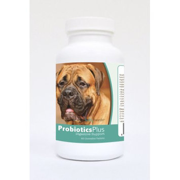 Healthy Breeds Pet Supplements 60 Bullmastiff Probiotic and Digestive Support Chewable Tablets for Dogs