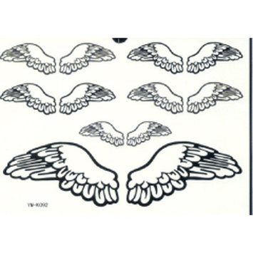 GGSELL GGSELL LATEST new product hot selling waterproof and fashionable Black angel wings tattoo stickers by YiMei