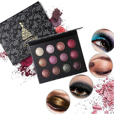 AMA(TM) 12 Color Cosmetic Matte Eyeshadow Cream Makeup Palette Shimmer Set