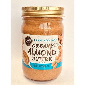 Sam's Choice Creamy Almond Butter, No Sugar or Salt Added, 12 oz