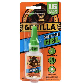 Gorilla Glue Gorilla Super Glue Gel, 15 gram Clear - 24 Pack