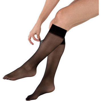 Ladies Fusion Run Resistant Silky Soft Knee Highs, 2 Pairs