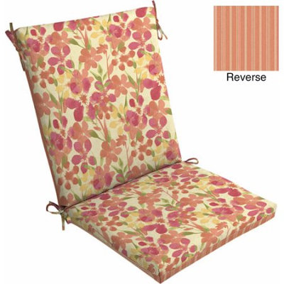 Mainstays Outdoor Dining Chair Cushion, Paintbrush Floral