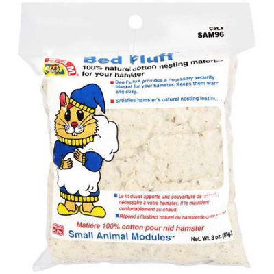Sam S.A.M. Bed Fluff Hamster & Gerbil Bedding: 3 oz