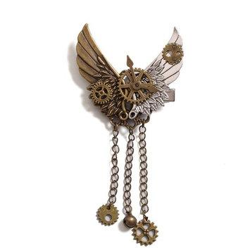 Girls Steampunk Gear Wings Hair Clip Goth Punk Vintage Lolita Lady Headwear hair accessories