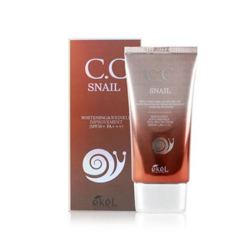 Ekel Snail CC Cream 50ml[1.69Oz],Whitening,Anti-Wrinkle,SPF50+ PA+++