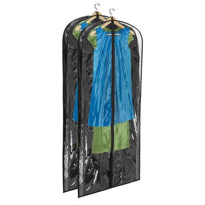 Honey Can Do 2 Pack Dress Bag, Polyester, Black (SFTZ01251)