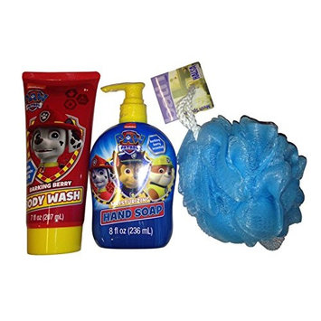 Paw Patrol Bath Bundle - 3-Items: Body Wash and Hand Soap with Sponge