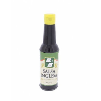 B & B B Worcestershire Sauce 5.36oz - Salsa Inglesa (Pack of 6)