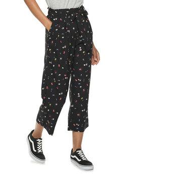 Women's POPSUGAR Paperbag-Waist Wide Leg Crop Pants