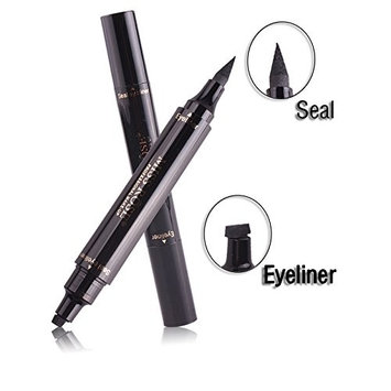 Double Ends Waterproof Black Liquid Eyeliner Seal and Stamp Eyeliner