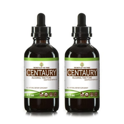 Secrets Of The Tribe Centaury Tincture Alcohol Extract, Organic Centaury (Centaurium erythraea) Dried Herb 2x4 oz