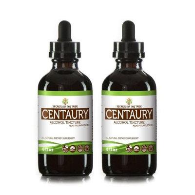 Secrets Of The Tribe Centaury Tincture Alcohol Extract, Organic Centaury (Centaurium erythraea) Dried Herb 2x4 oz