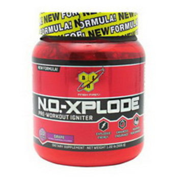 BSN N.O.-Xplode Pre-Workout Igniter Powder Grape, 19.52 OZ