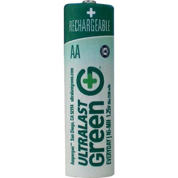 Ultralast ULGED2AA AA Green Precharged Ready-to-Use Rechargeable Batteries