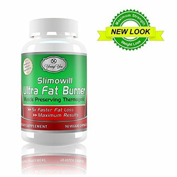 Slimowill Ultra FAT BURNER, ENERGY, METABOLIZER. Fat Loss pills -1500mg. 90 Capsules.