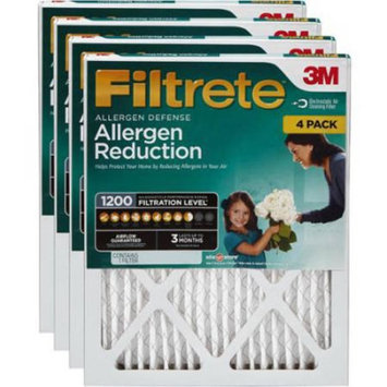 Nexcare Filtrete Allergen Reduction 1200 Air and Furnace Filter, Available in Multiple Sizes (4-pack)
