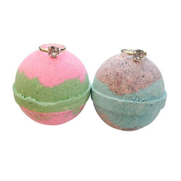Ring Bath Bomb SET OF TWO/ Watermelon & Blackberry Extra Large Bath Bombs 8 oz. Each, By Soapie Shoppe
