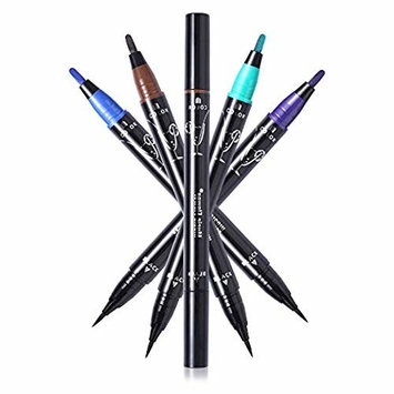 Music Flower Waterproof Liquid Eyeliner - Smudge proof, Double Head Makeup Pen– Available in 4 Colors