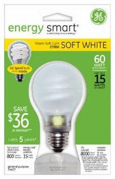 GE 74437 Compact Fluorescent Bulb 15 Watt A19 Globe Soft White