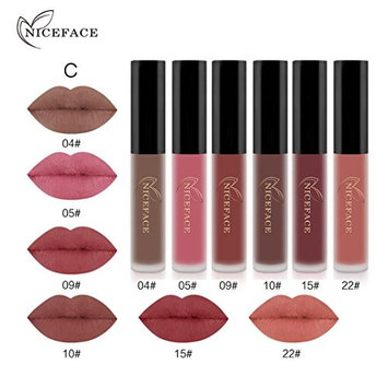 Outtop Waterproof Matte Liquid Lipstick All Day Lipcolor 6 Color Set