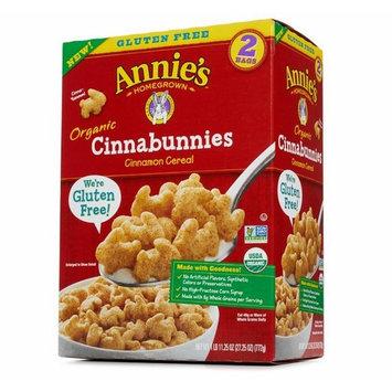 Annie's Organic Cinnabunnies Cereal 2 Full Bags 27.25 ounces