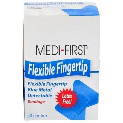 Flexible Fingertip Blue Metal Detectable Bandages 50/BX by Medique