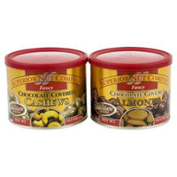 Superior Nut Fancy Chocolate Covered Cashews and Chocolate Covered Almonds - 10.5 oz - 2 ct
