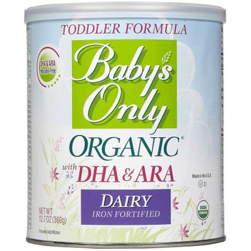 Baby's Only Essentials Baby's Only Organic Baby's Dairy with DHA & ARA Formula, 12.7 oz (Pack of 6)