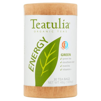 Teatulia Energy Organic Green Teas, 30 count, 1.69 oz, 6 pack
