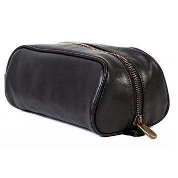Bosca medium travel shave kit, Tacconi collection black