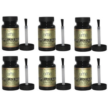 [BMB] Super Lace Glue for Lace Front Wigs Super Hold 3.4 oz (6 pack): Beauty