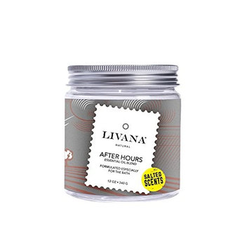 After Hours Signature Essential Oil Salted Scents Blend by Livana, 12oz, Fragrant salts for Bath, Aromatherapy [After Hours]