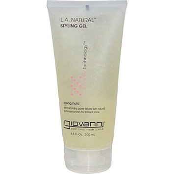 2 Packs of Giovanni L.A. Natural Styling Gel Strong H