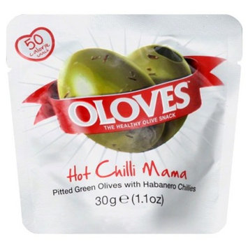 Oloves Hot Chili Mama Pitted Green Olives with Habanero Chilies - 1.1oz