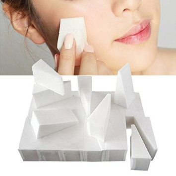 Coobbar 24pcs Facial Foundation Cosmetic Puffs Sponge Wedges Functionality Makeup Beauty Triangle Powder Puff