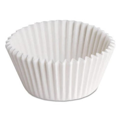 Hoffmaster BL114-3 CPC Flute Paper Bake Cup - White Case of 10000