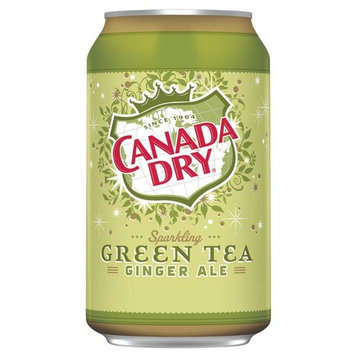Canada Dry Ginger Ale Sparkling Green Tea 12 oz Cans - Pack of 24