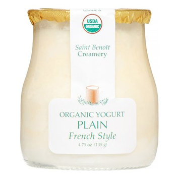 Saint Benoit Creamery Organic French Style Yogurt, Plain, 4.75 Oz