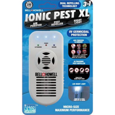 Bell & Howell Ionic Pest 3-in-1 Repeller Air Purifier/Ionizer and Nightlight
