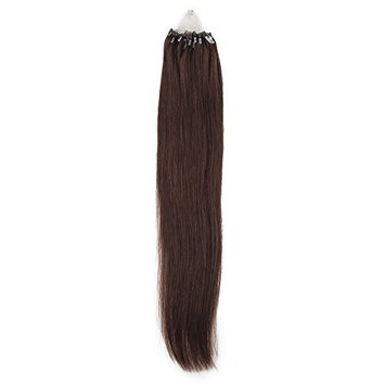 Bewish Brand new 100% Remy Human Easy Loop Micro Ring Beads Tipped Hair Extensions Straight 0.5g/Strand 200 Strands/Pack Total 100g