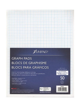 Ampad Evidence Quad Pads 5 x 5, 8 1/2 in. x 11 in. [pack of 5]