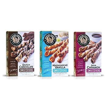 John Wm Macy's Original Cheddar CheeseSticks Gourmet Snack (Madagascar Vanilla, Dutch Chocolate, Java Cinnamon, Pack of 3)